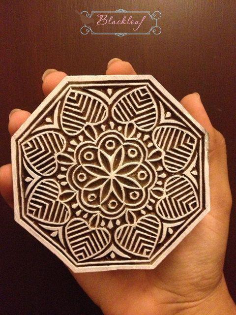 Wood Block Printing Hand Carved Indian Wood by BlackleafArt, $18.50