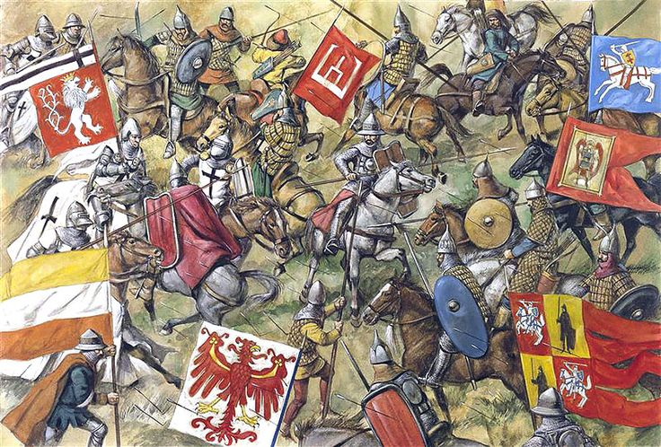 Grunwald, 1410: The Lithuanians and Tartars clash with the Teutonic left wing, 9.00 am