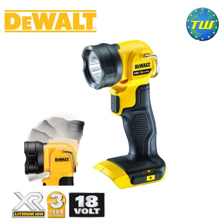http://www.twwholesale.co.uk/product.php/section/10417/sn/DeWalt-DCL040-XJ DeWalt DCL040 18V LED Torch has a 2x zone light pattern that delivers 110 lumens of bright light. Fitted with a pivotal flashlight head that rotates vertically by 90 degrees, combined with an integral hanging hook - this DeWalt work light offers great hands free lighting solutions.