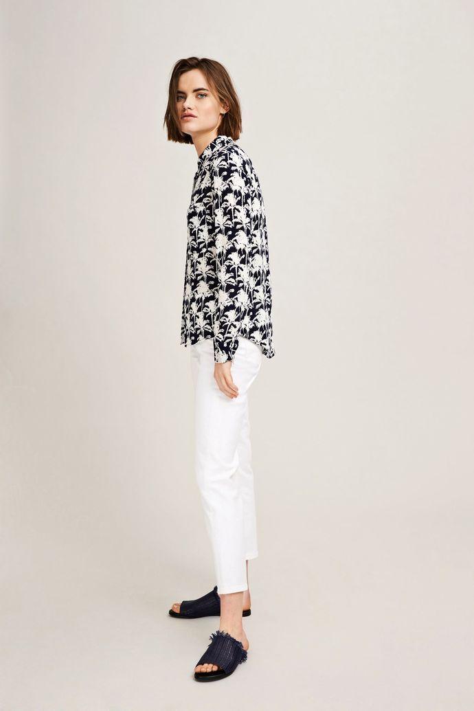 9b6052f15513 Milly shirt aop 7201, BLEU PALMIER | Summer 2018 clothes | Shirts ...