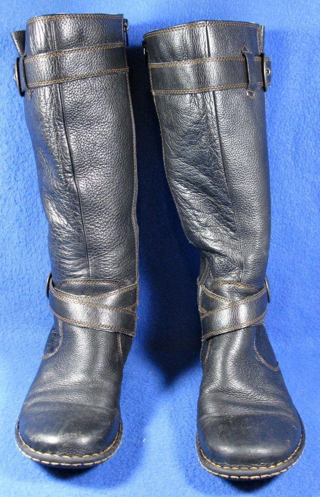 Born B.O.C. Cayden Brown Leather Tall Fashion Boots Women Size 10  #Brn #Fashion