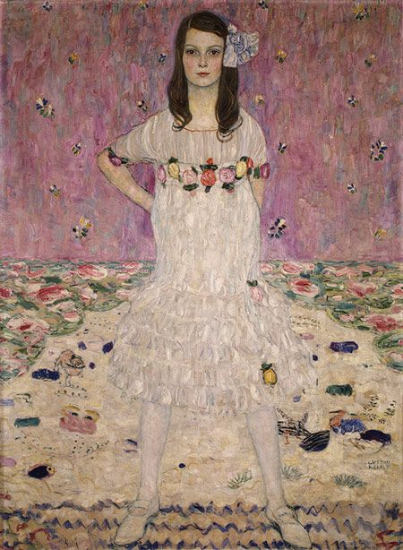 Gustav Klimt (1862-1918). Portrait of Mäda Primavesi. 1912. Oil on canvas. The Metropolitan Museum of Art - New York - USA. http://www.metmuseum.org/toah/works-of-art/64.148