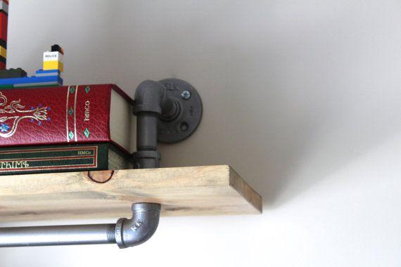 Industrial Pipe Shelfs: Rustic Shelving Pipe by HouseofCrazi
