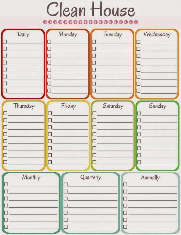 amy\u0027s notebook 5 Printable Cleaning Schedules Free Cleaning