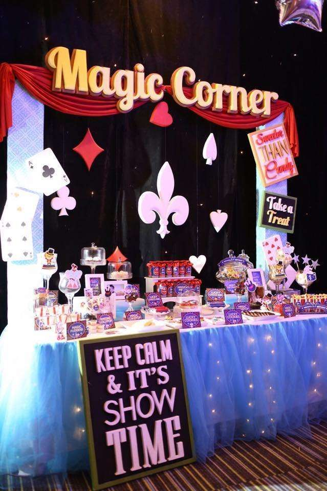 Elaborate magic birthday party! See more party planning ideas at CatchMyParty.com!