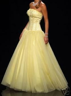 poofy pale yellow dresses - Google Search