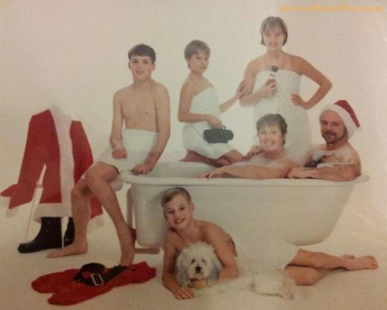 Family Bath Together