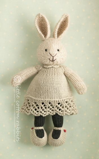 Little Cotton Rabbits; patterns & stuffed animals.  I know this is knitting but thought was cute.