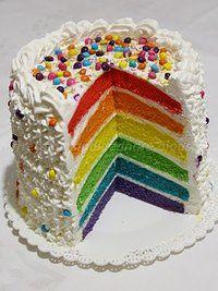Torta arcobaleno al olio e aroma di vaniglia