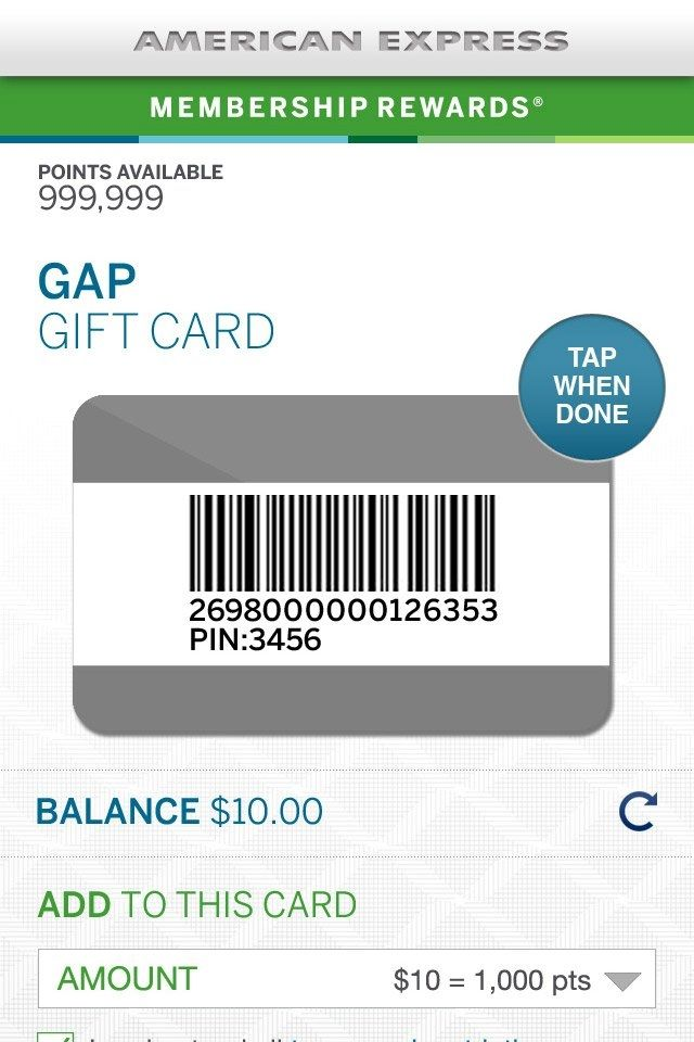 Balance Auf American Express Business Gift Card Sowie American