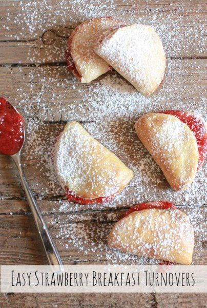 Easy strawberry breakfast turnovers pinteres