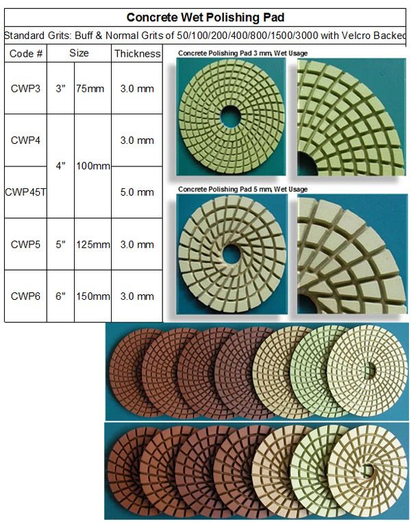 Concrete Wet Polishing Pad 5mm & 3mm thickness made in Korea guarantees consistent high quality. RM Tech Korea (StoneTools Korea®) email: sales@stonetools.co.kr  www.stonetools.co.kr http://stonetools.gobizkorea.com