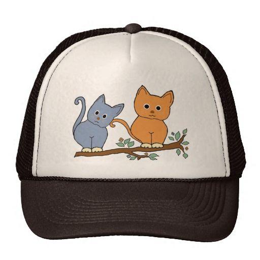 gatos gorros bordados