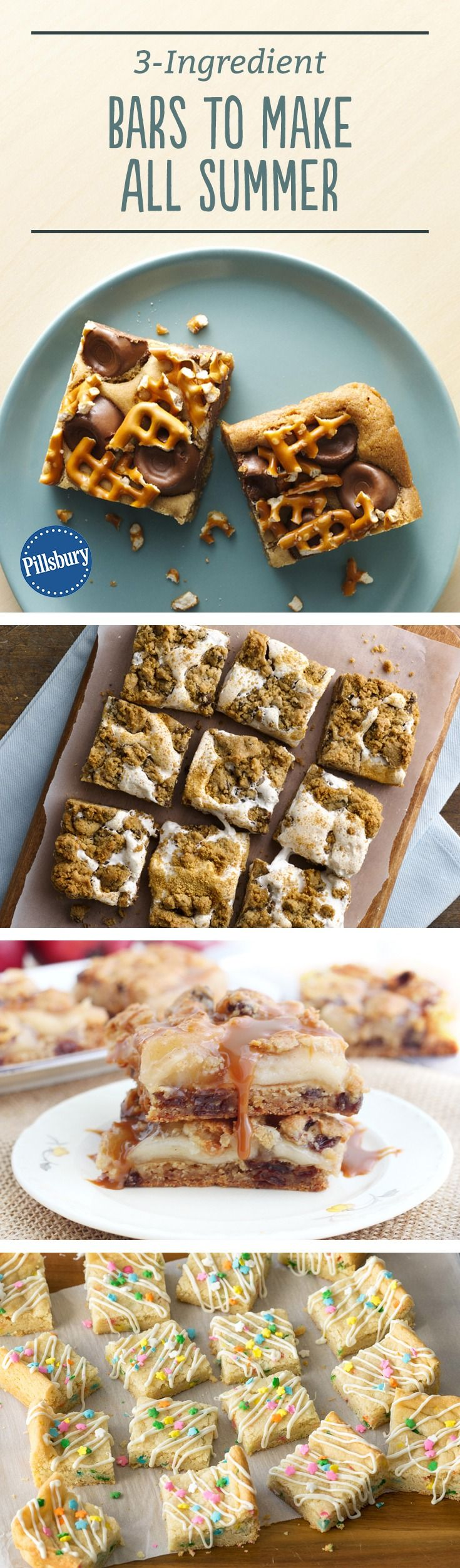 Short on time, but looking for a killer treat? These three-ingredient bars come together in no time, and they're the perfect recipes for last-minute parties or rainy day baking.