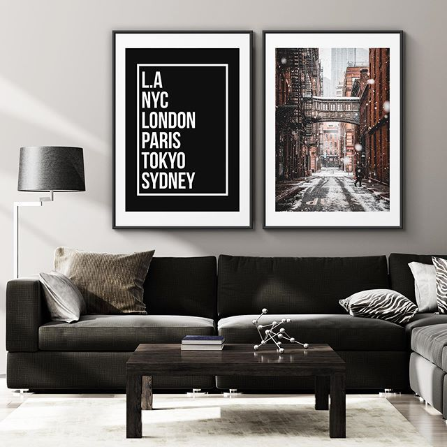 We Believe That In Larger Rooms And On Larger Walls That You May Need To Pair 2 Or More Posters Together To Make A Perfect Large Wall Wall Prints Luxury Decor