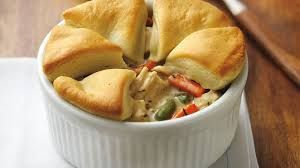 Image result for chicken pot pie with biscuit on top by cooking panda