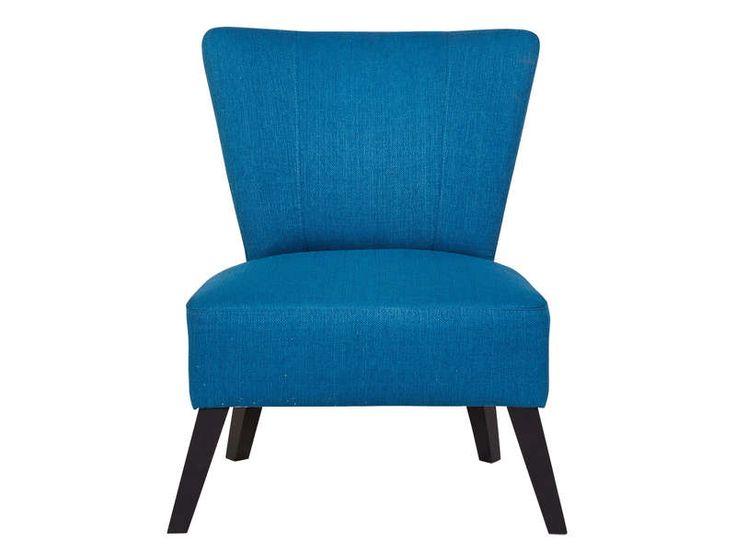 Fauteuil igor coloris bleu vente de fauteuil conforama for Fauteuil salon conforama