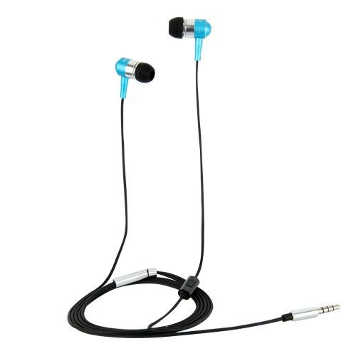 [$4.33] HAWEEL Metal Head In-ear Pure Voice Earphones with Mic & Line Control for iPhone 6 & 6s, Samsung Galaxy S6 / S5 / S4, HTC(Blue)