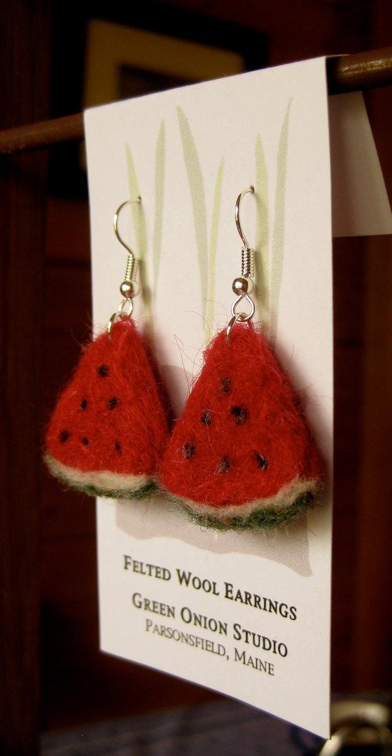 Felt earrings for August-September season )