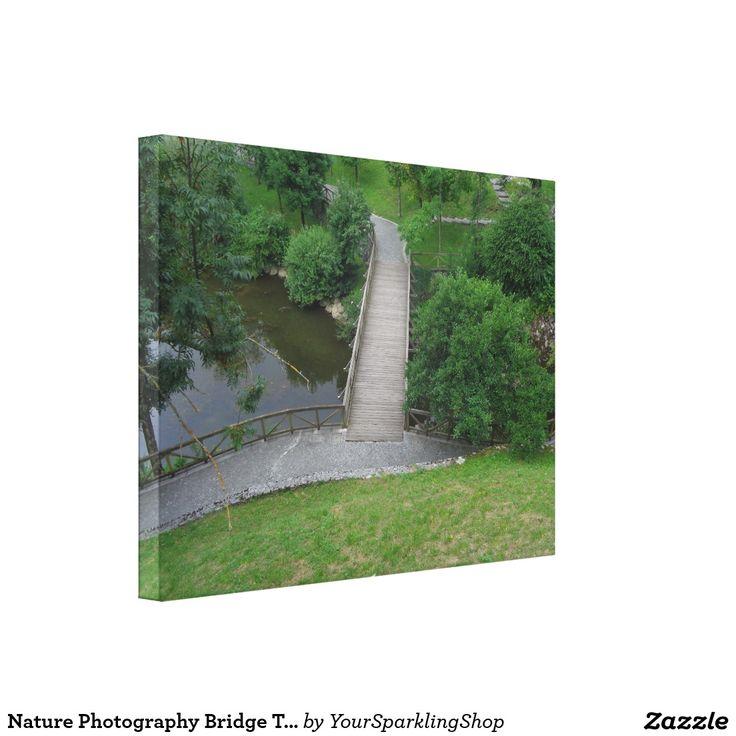 Nature Photography Bridge Trees Green Landscape Canvas