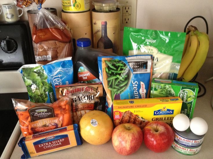 My 3 day Military Diet shipping list completed!