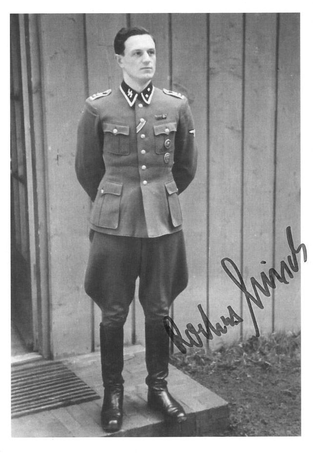 """Rochus Misch was Adolf Hitler's bodyguard from 1939 until 1945, and he was in the bunker when Hitler committed suicide. He never expressed regret over his wartime service or doubts about """"the boss"""". He died in September 2013 at the age of 96, the last survivor of the entourage holed up in Hitler's underground lair. In 2009, his daughter, Brigitta Jacobs-Engelken, an architect who worked to restore synagogues, revealed that her mother Gerda, Misch's wife, was Jewish. Misch refused to accept…"""