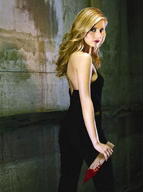 Gothic Glamour, from Autumn Our Way in the August Issue: Buffy The Vampire Slayer, Sarah Michelle Gellar, Buffy Summers, Vampires Slayer, Joss Whedon, Sarah Michele Gellar, Michelle Trachtenberg, Film Music Books, Vampires Hunters