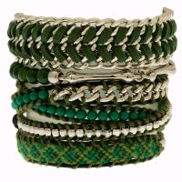 Stack 3  #green #bracelets #stack #multistyles #silver #cool