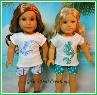 """GiGi's Doll and Craft Creations: American Girl Doll Clothes """"Under The Sea Collections"""" by GiGi's Doll Creations"""