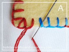 how to do blanket stitch - has excellent instructions for making knots, changing threads, etc.