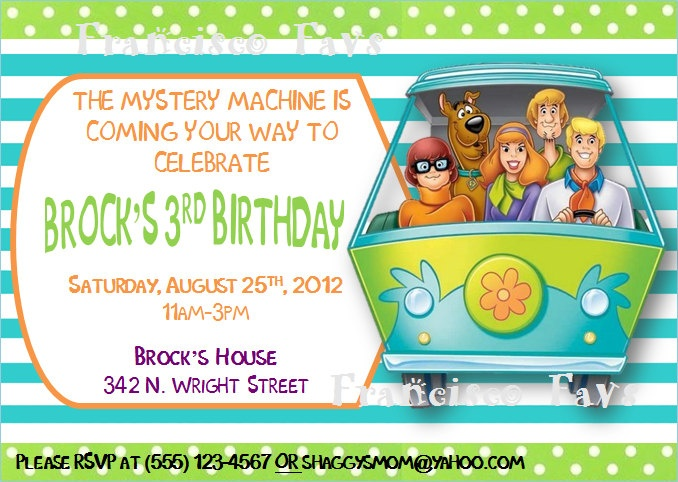 169 best scooby images on pinterest   scooby doo, birthday party, Birthday invitations