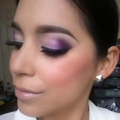 Purple eye shadow is the perfect accent to any great blow out.