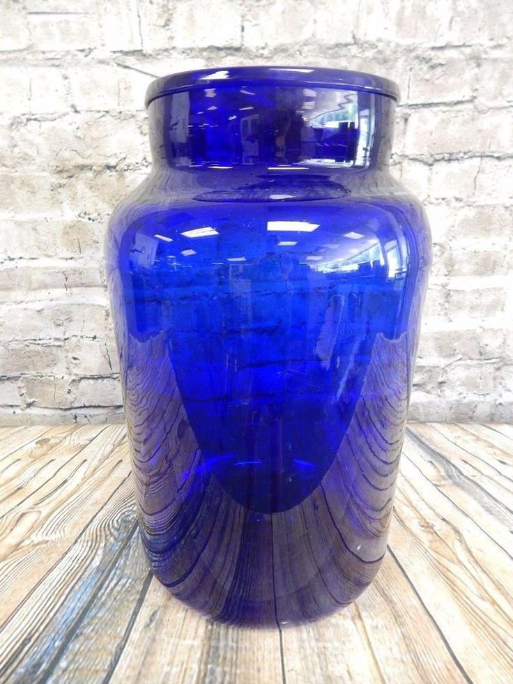Download Wallpaper Antique Blue Glass Vase Full Wallpapers