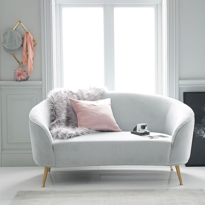 Curved Loveseat Small Couch In Bedroom Bedroom Seating Grey Bedroom Furniture