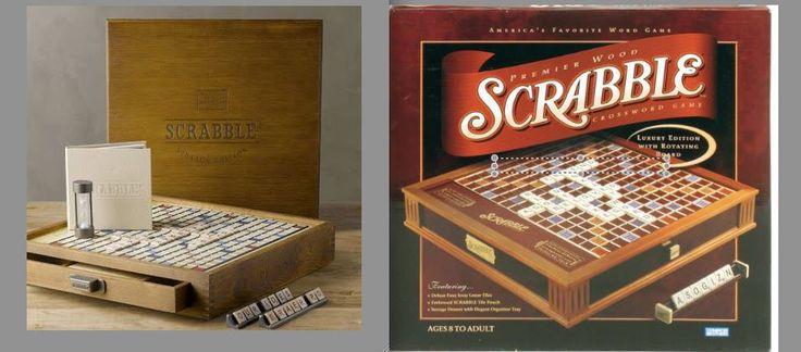 Vintage Wood Scrabble