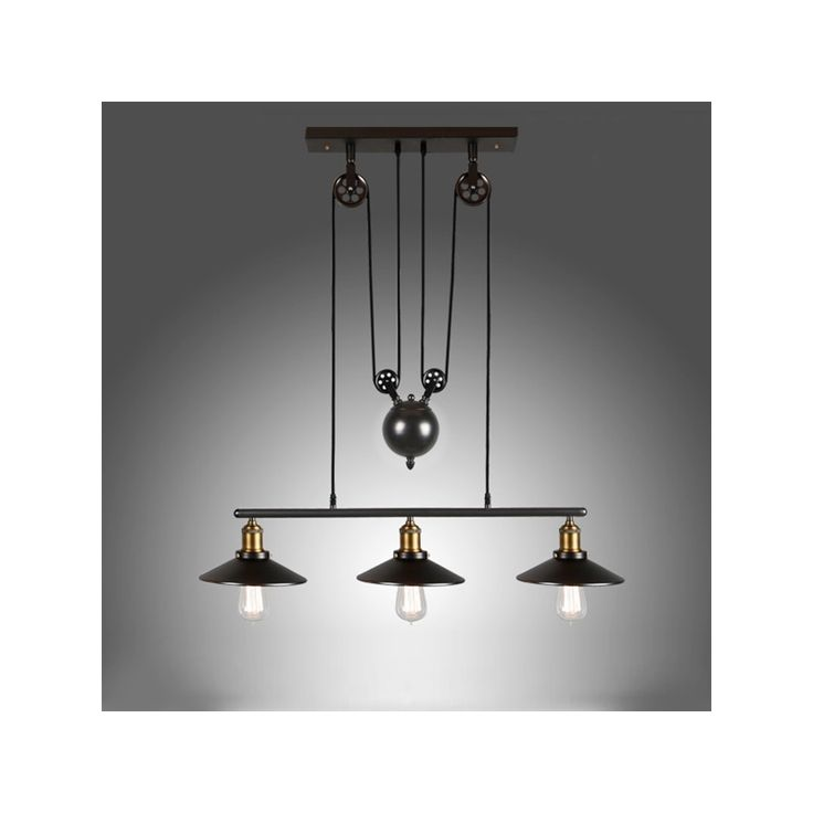 Buy Ceiling Lights American Country Wrought Iron Chandelier Industrial Wind Pendant 3 Bulb Included With
