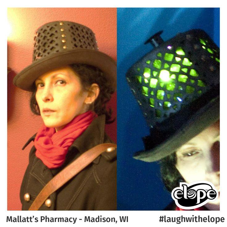 """The Illuminator Adventurer's Companion"" by Brenna Farmer Mallatt's Costumes & Accessories - Madison, WI  Vote for this hat: http://woobox.com/27q2tb"
