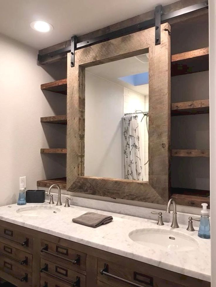 Best Absolutely Free Rustic Bathroom Mirror Ideas Farmhouse