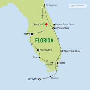 Map of Florida s Sunshine Trail - Summer 2015