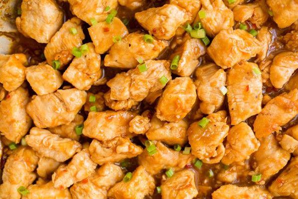 skinny skillet orange chicken
