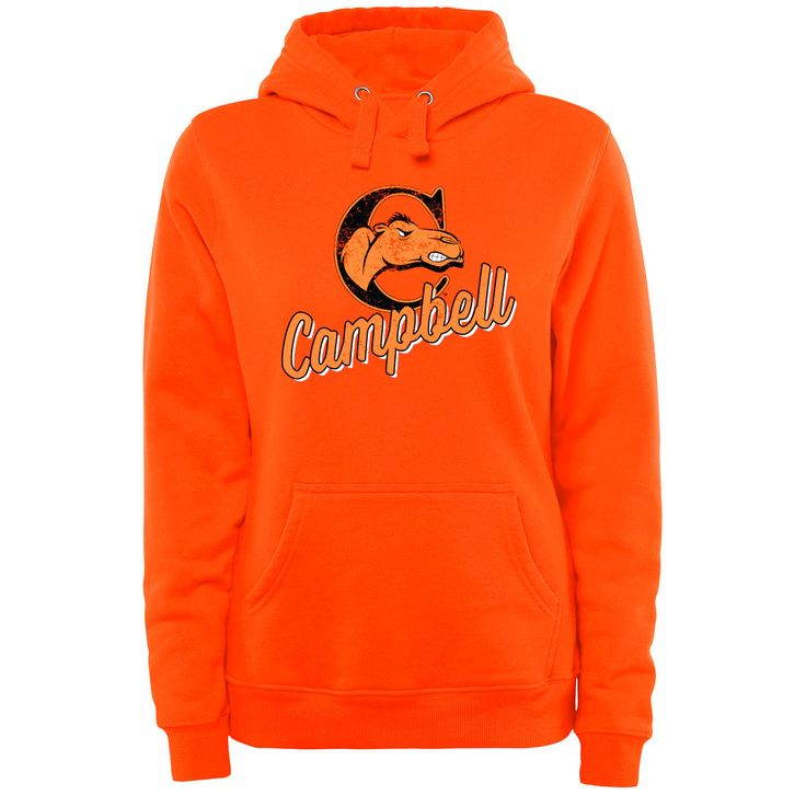 Campbell Fighting Camels Women's Plus Sizes Slant Script Pullover Hoodie - Orange - $49.99