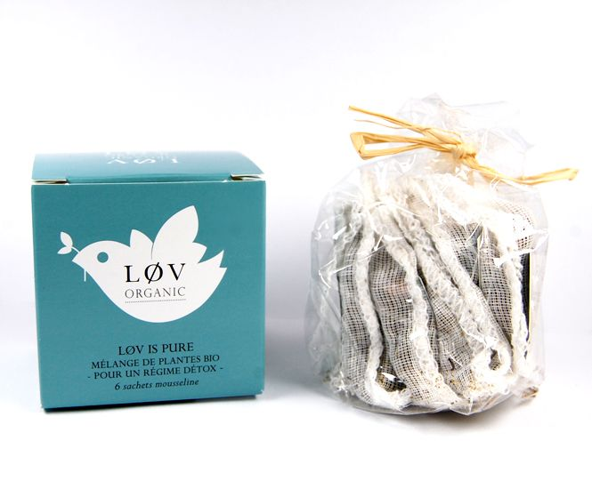 LOV Organic Grünteemischung mit 6 Teebeuteln