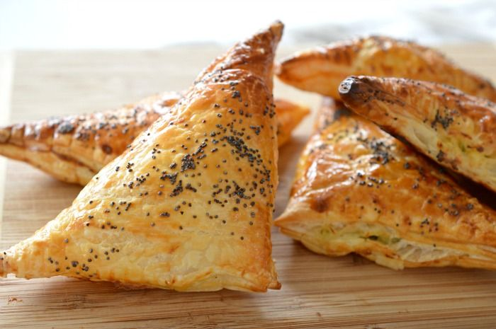 Spinach and Three Cheese Triangles 2