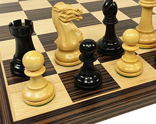 4 Queens  Black Staunton 3 34 King Classic Wood Chess Set W 17 14 Ebony  Maple Board * Want additional info? Click on the image(It is Amazon affiliate link). #bestfriend