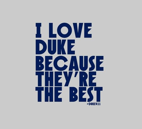It's really that simple. #Duke