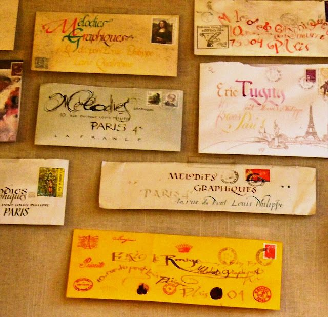 sweet French missives... <3Vicky Archer, Paris Letters, Lost Art, Beautiful French, French Writing, Mail Art, French Handwriting, French Essence, Melody Graphique