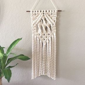 cool Macrame Wall Hanging / Modern Macrame / Tapestry / Wall Hanging / Home Decor by http://www.best99-home-decorpics.us/homemade-home-decor/macrame-wall-hanging-modern-macrame-tapestry-wall-hanging-home-decor/