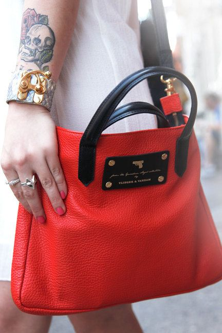 NYC #streetstyle Vlieger and Vandam bag, Yosef cuff, #UrbanOutfitters dress, House of Harlow and Elizabeth and James Rings