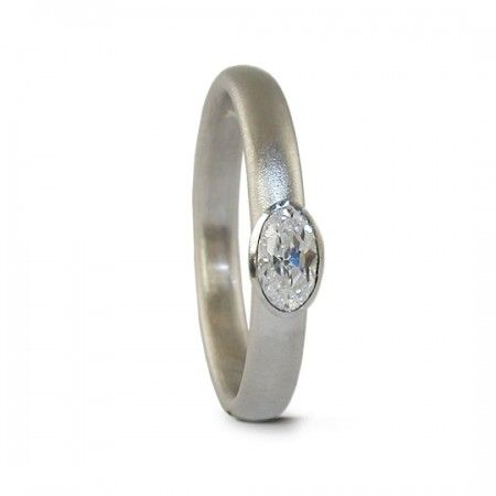 Jacks Turner - Platinum oval diamond engagement ring