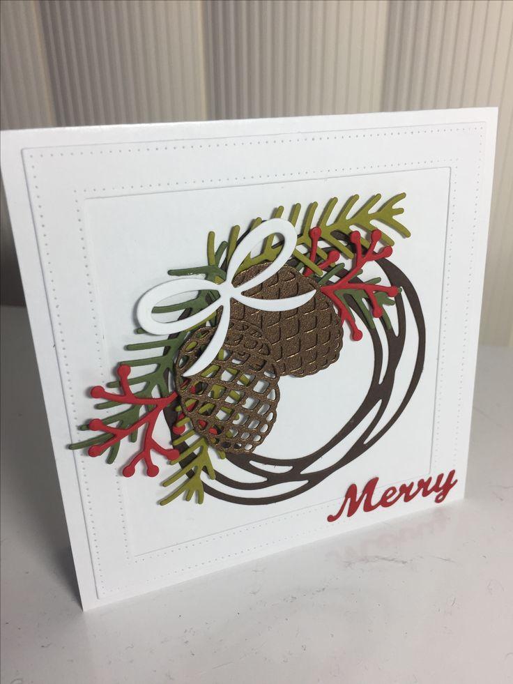 Swirly Merry wreath